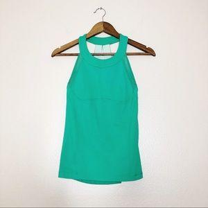 Lululemon workout top sports bra green